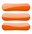 orange oval glass 3d buttons vector image vector image