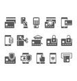 pay on line and mobile banking icons vector image vector image