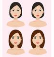 plastic surgery body parts woman correction vector image