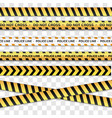 police line and do not cross caution lines vector image vector image