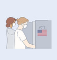 politics election usa voting coronavirus vector image