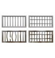 prison window with metal bars and grate vector image