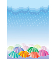 rain background vector image