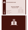 Real estate business card front and back vector image vector image