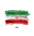 realistic watercolor painting flag iran vector image vector image