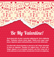 romantic abstract poster vector image vector image