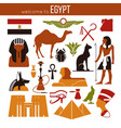 set of egypt symbols and landmarks flat vector image vector image