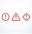 set of warning sign icons vector image vector image