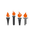 set torch icon design template vector image