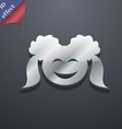 smiling girl icon symbol 3D style Trendy modern vector image