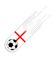 soccer ball with the flag of england vector image vector image