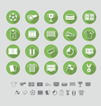 Soccer icons set flat design