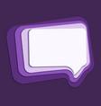 speech bubble 3d paper cut layer art purple color