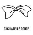 tagliatelle corte icon outline style vector image