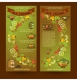 Tea house cards Flyers set of Cup leaf lemon vector image vector image