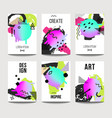 trendy brochure templates with chaotic flat vector image vector image