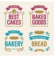 Vintage Bakery Labels vector image vector image