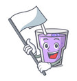 with flag berry smoothie mascot cartoon vector image vector image