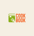cookbook isolated logo template vector image