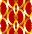 Seamless bold gold rings geometrics pattern vector image