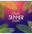 Summer lettering with palm vector image