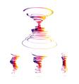 Set of tornado icons vector image