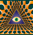 conceptual abstract all-seeing eye in the end of vector image