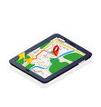 3d isometric mobile gps navigation concept vector image vector image