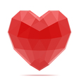 3D polygonal heart for valentines day vector image