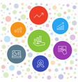 7 increase icons vector image vector image