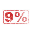 9 percent rubber stamp vector image vector image