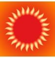 a fiery sun vector image