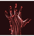 Abstract light hand vector image vector image