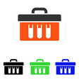 analysis tubes case flat icon vector image