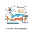 analytics and research vector image vector image