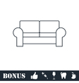Armchair icon flat vector image vector image