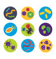 bacteria virus microscopic isolated microbes icon vector image vector image