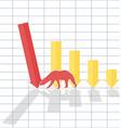 Bearl trend on stock market vector image vector image