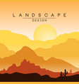 beautiful peaceful desert landscape morning in vector image