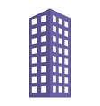 Blue building line sticker image vector image vector image