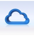 Blue cloud digital concept for your design vector image