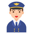 captain icon profession and job vector image vector image