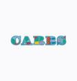 carbs concept word art vector image