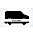 censored car silhouette vector image vector image