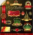 Christmas frames vector image vector image