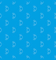 croissant pattern seamless blue vector image