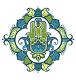 Decorative hamsa vector image vector image