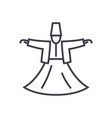 dervish danceislam line icon sign vector image vector image