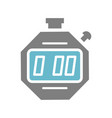 digital stop watch icon on white background for vector image vector image