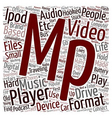 Do You Own An Mp3 Mp4 Player text background vector image vector image